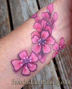 flower santa cruz face paint body paint