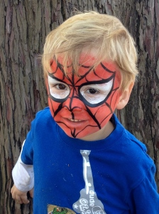 adorable spiderman santa cruz face painter