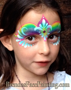 rainbowtiara santa cruz face painting