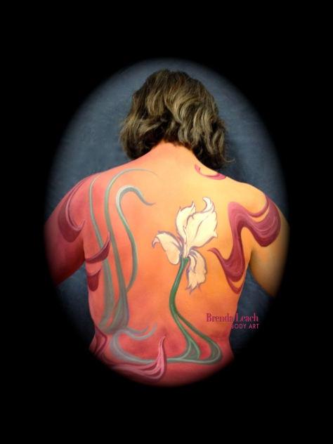 Art Nouveau inspired body paint
