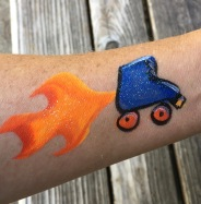 derby-girls-flaming-skate-brendas-face-painting
